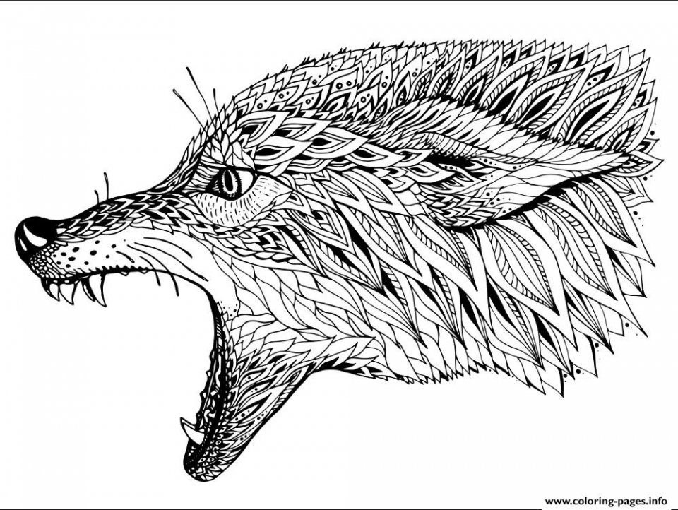 - 20+ Free Printable Wolf Coloring Pages For Adults - EverFreeColoring.com