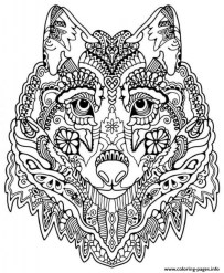 Wolf Coloring Pages for Adults Free Printable 75117