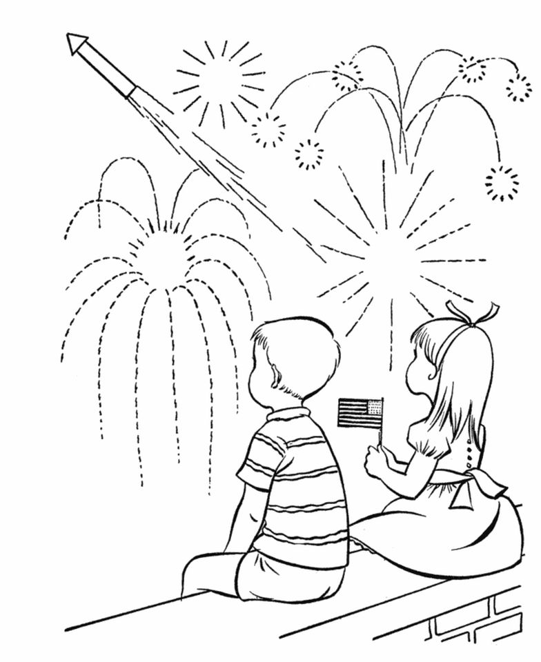 4th of July Coloring Pages for Toddlers - ut831