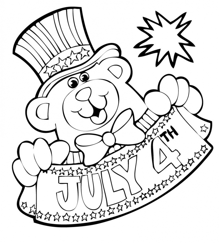 4th of July Coloring Pages Free to Print   16b5g
