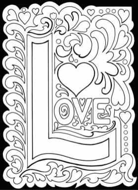 Adults Printable Love Coloring Pages - 8ah5l