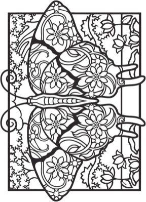 Advanced coloring pages of Butterfly for Adults - 76731
