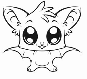 Bat Coloring Pages Free Printable - 56718