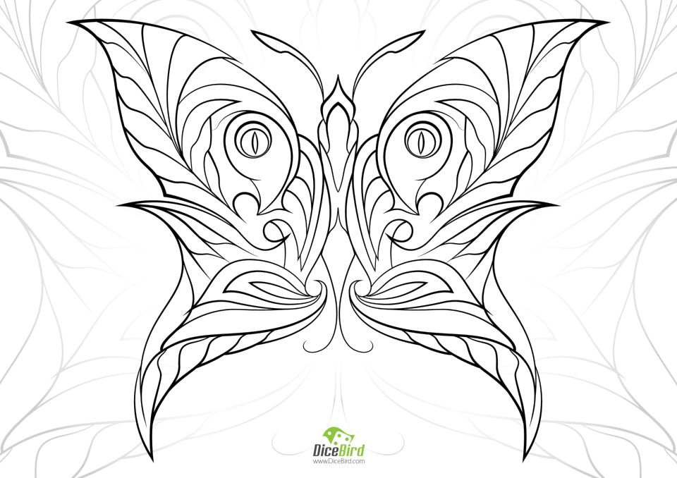 Butterfly Coloring Pages Adults Printable - 7ahf5
