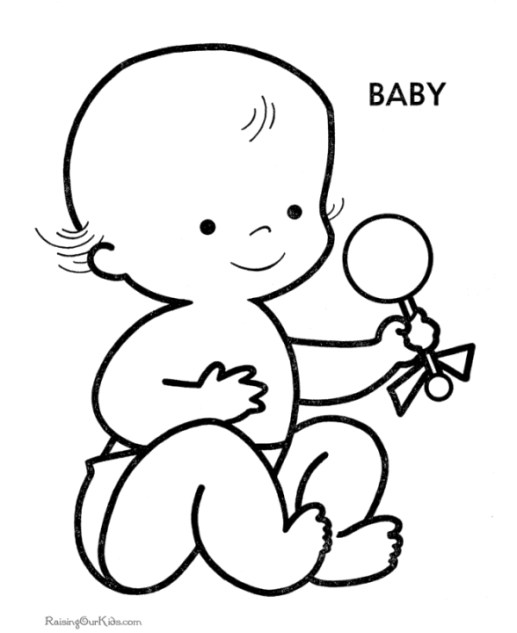 Coloring Pages of Baby Free Printable - f74nc