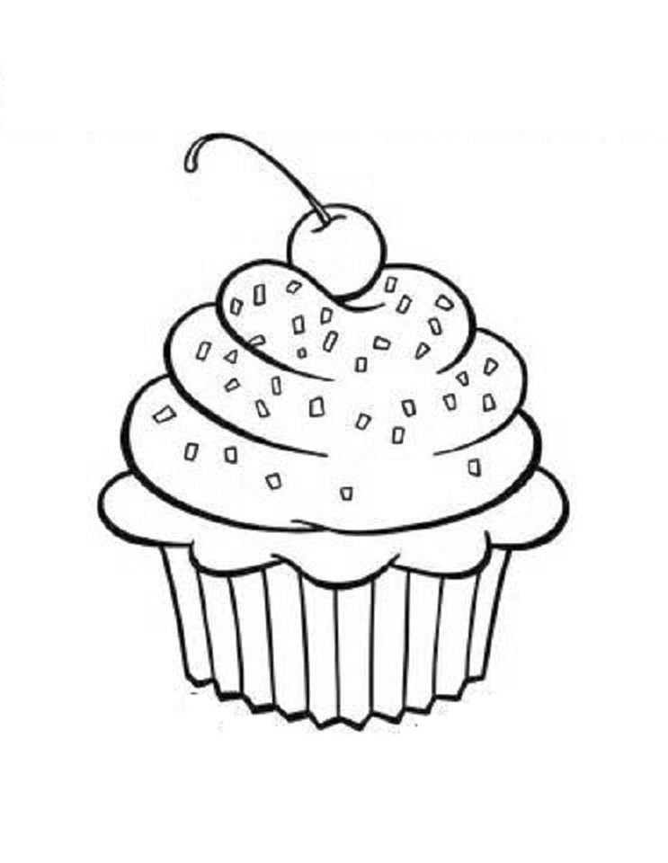 Cupcake Coloring Pages for Kids - tfv41