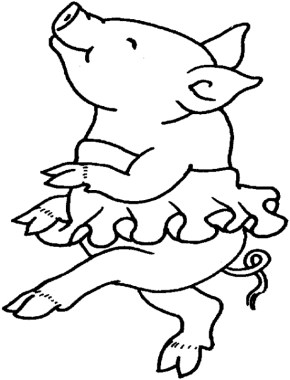 Cute Pig Coloring Pages - 7j3m1