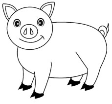 Cute Pig Coloring Pages - 84b91