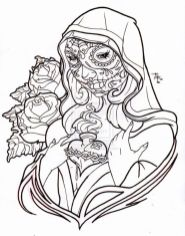 Day of the Dead Coloring Pages Online Printable - tdf31