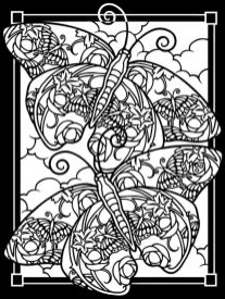 Difficult Butterfly Coloring Pages for Adults - cavv5
