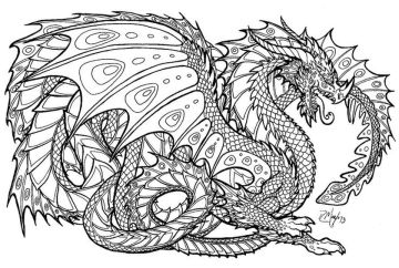 Dragon Coloring Pages for Adults - aa7da