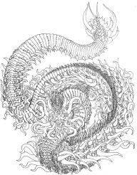 Dragon Coloring Pages for Adults to Print - 74099