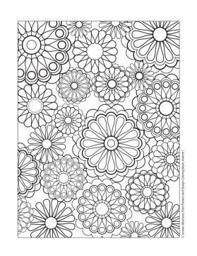 Flower Design Coloring Pages - 26171