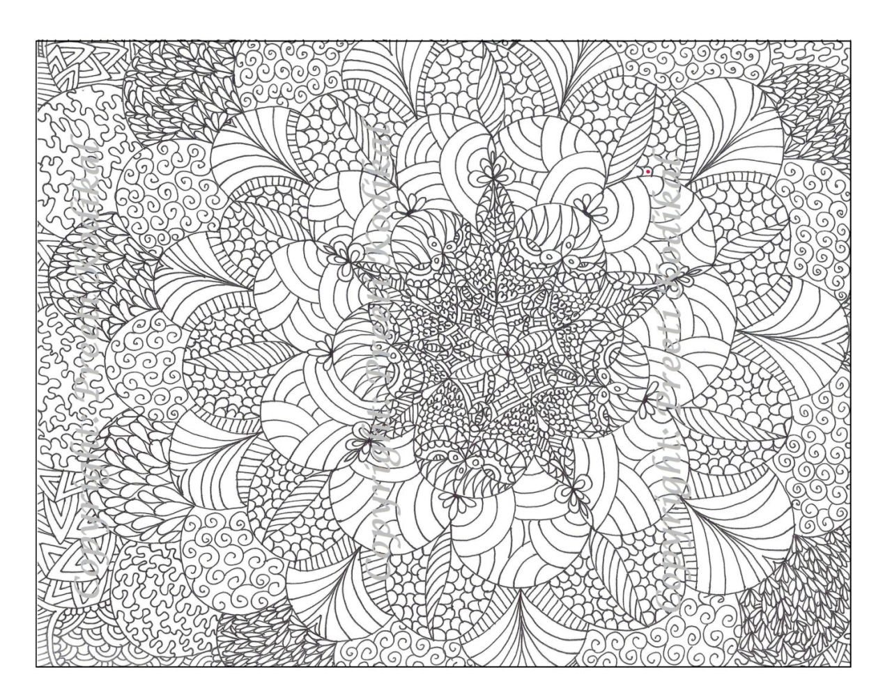 Flower Design Coloring Pages - 35647
