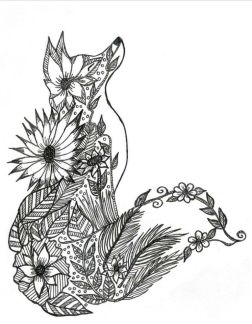 Fox Coloring Pages for Adults Free - 3nx71