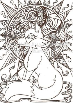 Fox Coloring Pages for Adults Free - 91127