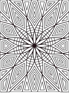 Geometric Design Coloring Pages - tr5wk
