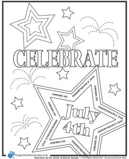 Happy 4th of July Coloring Pages for Toddlers - ycv31