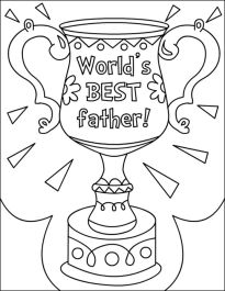 Happy Father's Day Coloring Pages - c6219