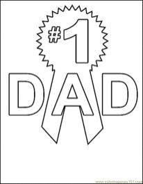 Happy Father's Day Coloring Pages - c672s