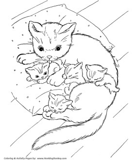 Kitten Coloring Pages Kids Printable - 8fg3 - new