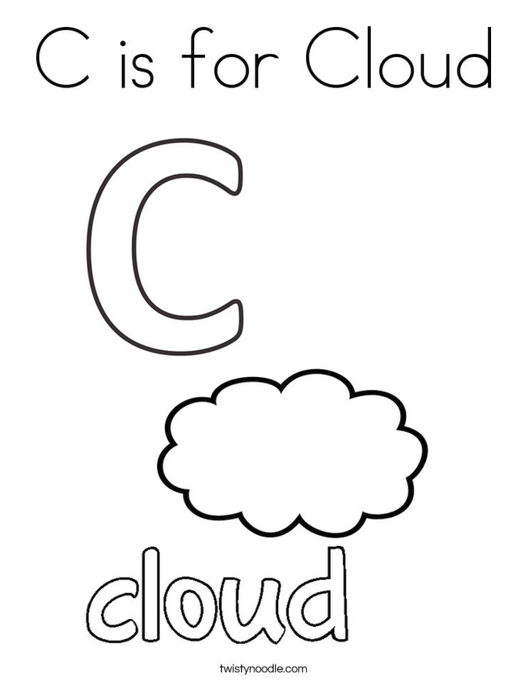 Letter C Coloring Pages Cloud - 83nfl