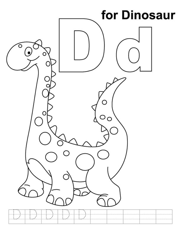 Letter D Coloring Pages Dinosaur - 7cs2m