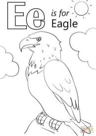 Letter E Coloring Pages Eagle - jdh3m
