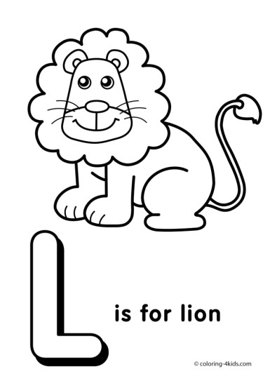 Letter L Coloring Pages Lion - u4l1