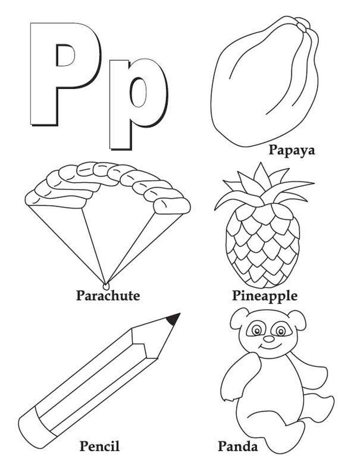 Letter P Coloring Pages - pl4ma