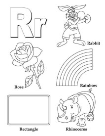 Letter R Coloring Pages - r2t19