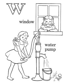 Letter W Coloring Pages Window - l04p2
