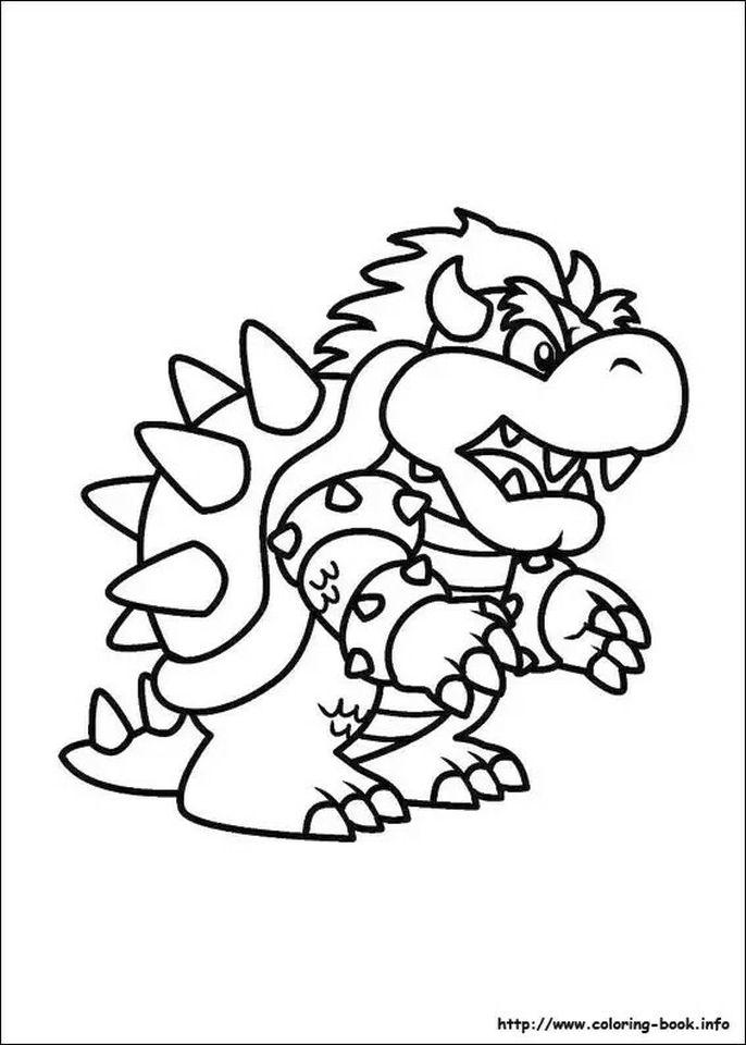 Mario Coloring Pages Bowser - u57dn
