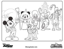 Mickey Mouse Clubhouse Coloring Pages Printable for Kids - dd74k