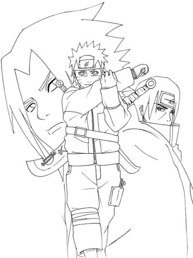 Naruto Coloring Pages Free Printable - 89568