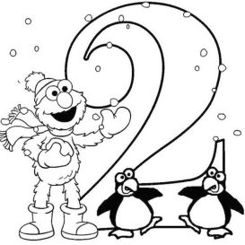 Number 2 Coloring Page - 26571