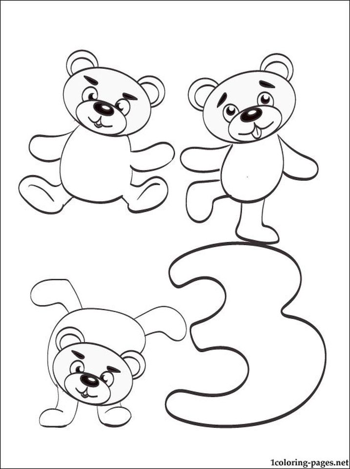 Number 3 Coloring Page - 3a73n