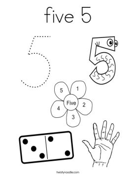 Number 5 Coloring Page - 5hd51