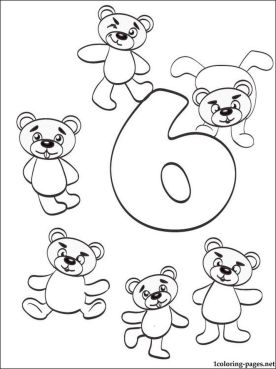 Number 6 Coloring Page - 686s6