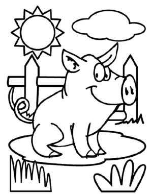 Pig Coloring Pages to Print Out - 72910