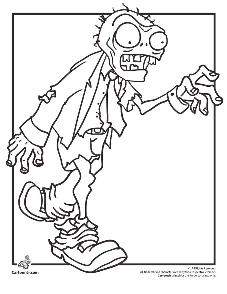 Plants Vs. Zombies Coloring Pages Kids Printable - 89578