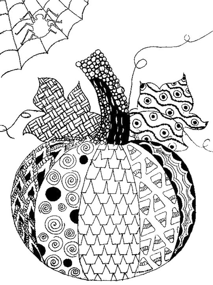 Pumpkin Coloring Pages for Adults Printable - 7cv41