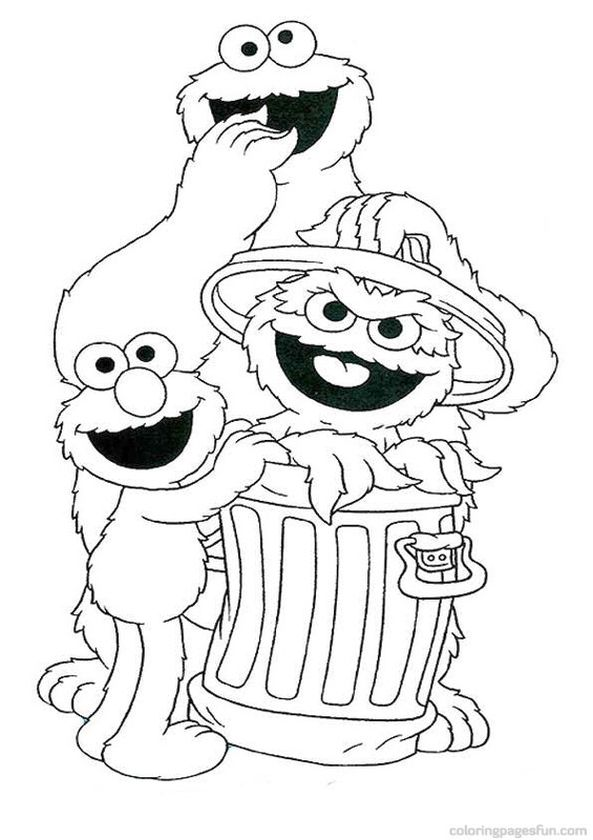 Sesame Street Coloring Pages Free Printable - 67290