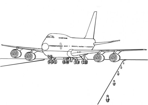 Airplane Coloring Pages to Print uvbta