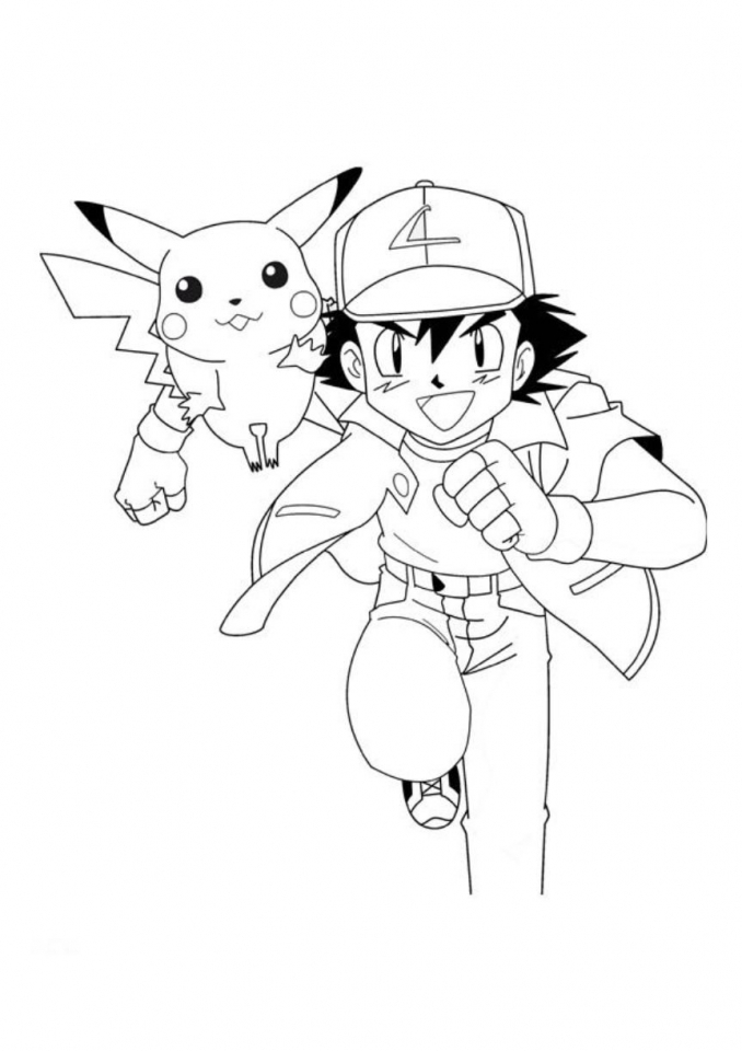 get this ash and pikachu coloring pages 7ajd0