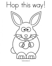 Baby Bunny Coloring Pages for Toddlers 98602