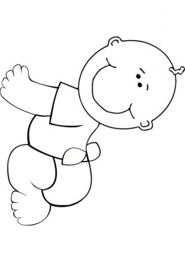 Baby Coloring Pages Printable 73313