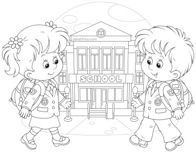Back to School Coloring Pages for Toddlers tane2