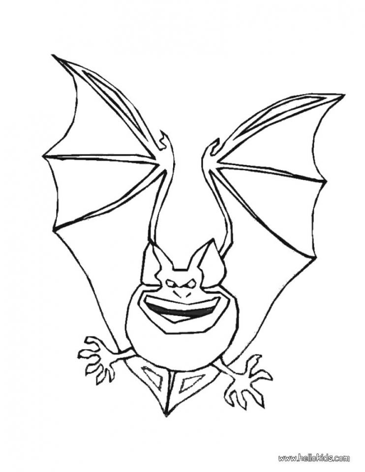 Bat coloring pages scary   90021