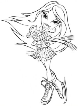 Bratz Coloring Pages Girls Printable uplg6